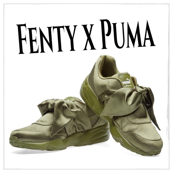 huge selection of 19338 8873d Puma X Fenty Rihanna Bow Sneaker Olive Branch NWT